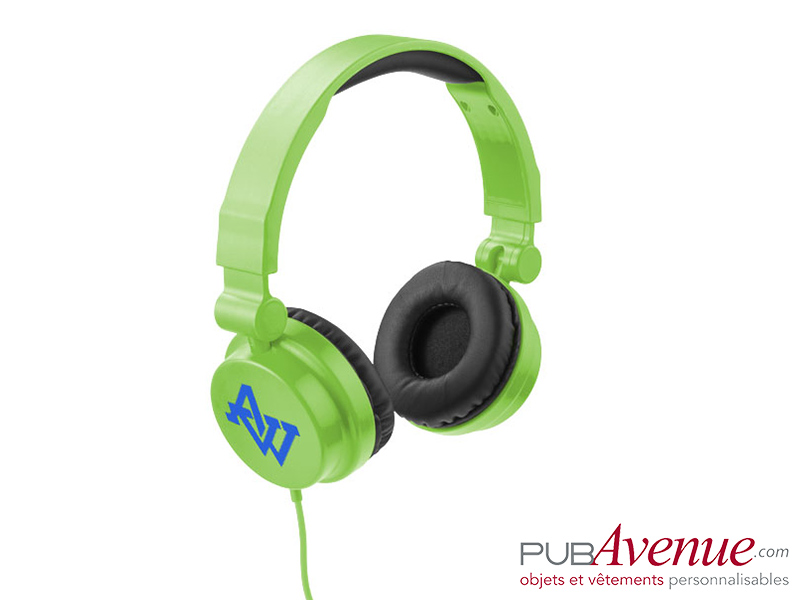 Casque audio réglable personnalisé