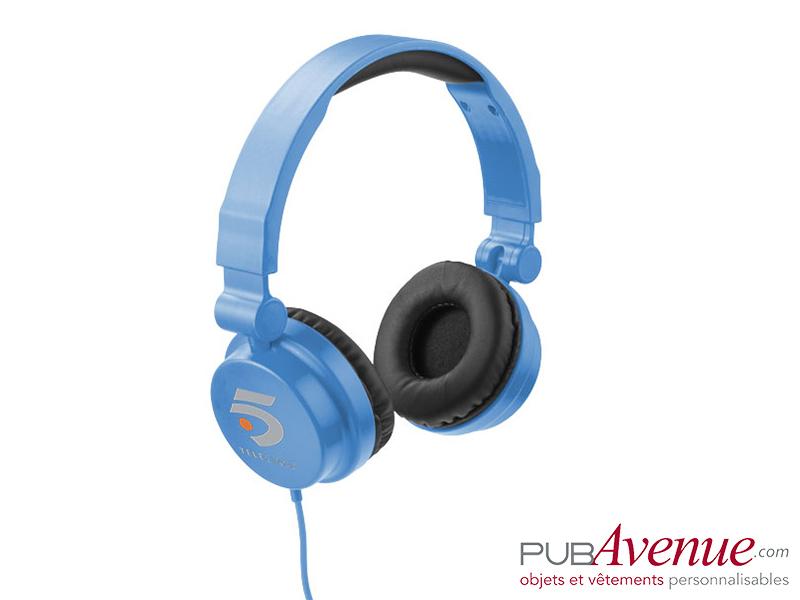 Casque audio réglable publicitaire