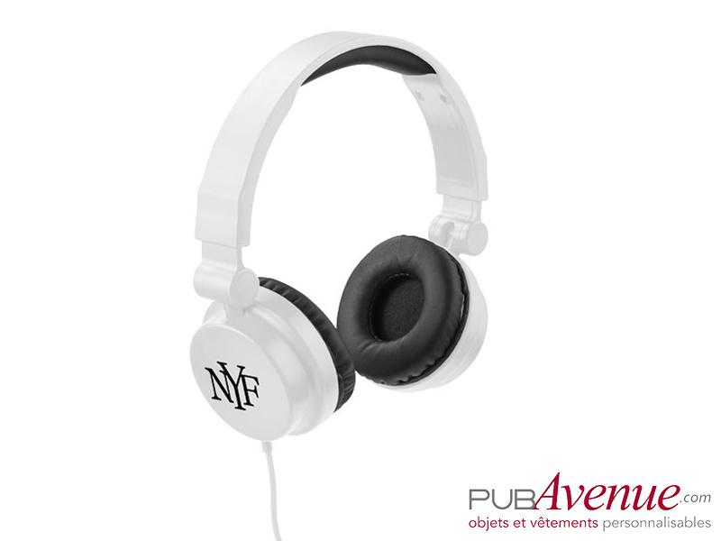 Casque audio personnalisable réglable