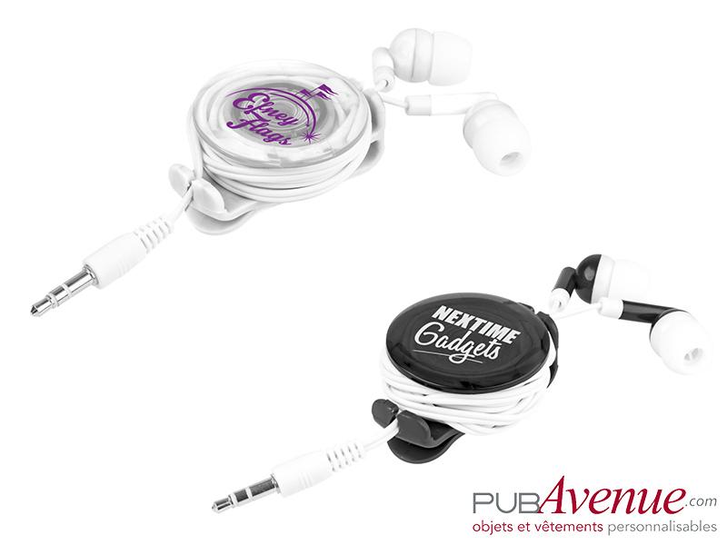 Écouteurs audio personnalisés lumineux