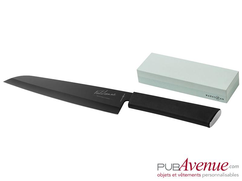 Couteau personnalisable acier pierre à aiguiser