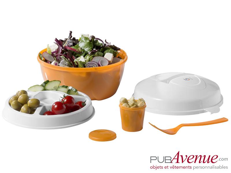 Boîte repas publicitaire lunch box salades