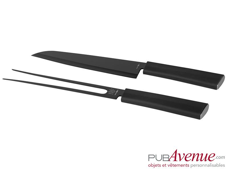 Set couteau fourchette personnalisable à découper