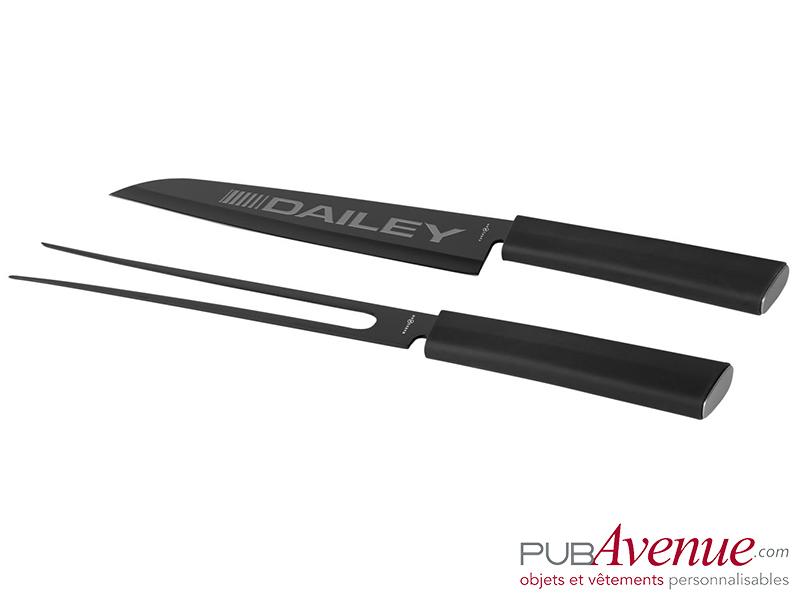Set couteau fourchette personnalisé à découper