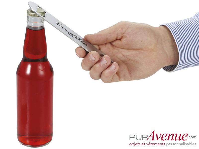 Ouvre bouteille métal personnalisé