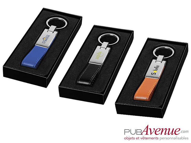 Porte-clés plaque métal personnalisable