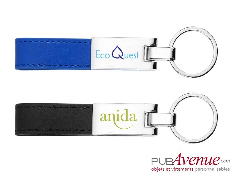 Porte-clés plaque métal personnalisé