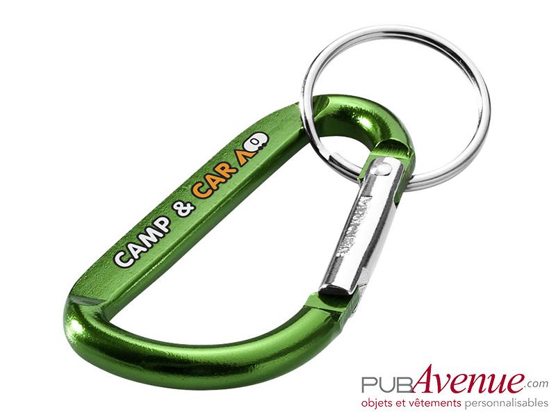 Porte-clés mousqueton personnalisable