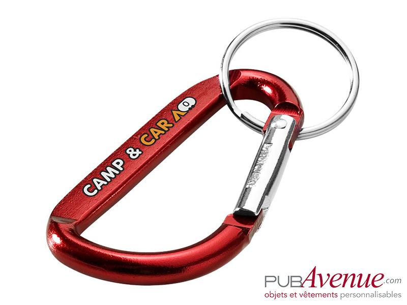 Porte-clés personnalisé mousqueton
