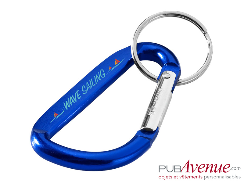 Porte-clés personnalisable mousqueton