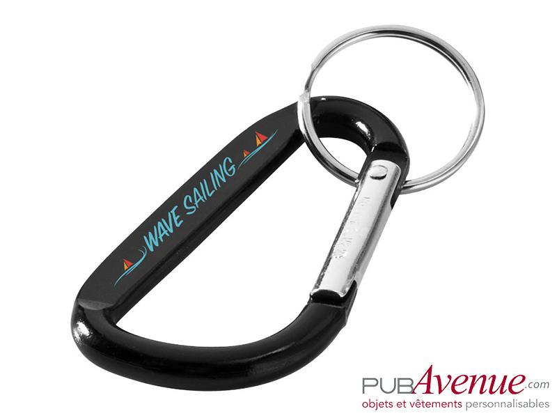Porte-clés mousqueton personnalisé