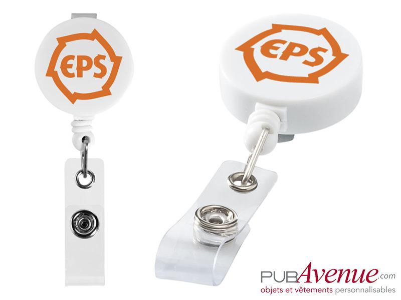 Porte Badge Enrouleur Personnalisé Marquage Logo Texte Publicitaire - Porte badge pas cher
