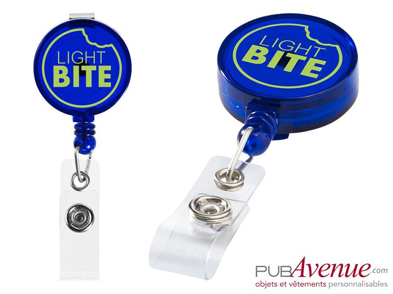 Porte badge enrouleur personnalisé clip