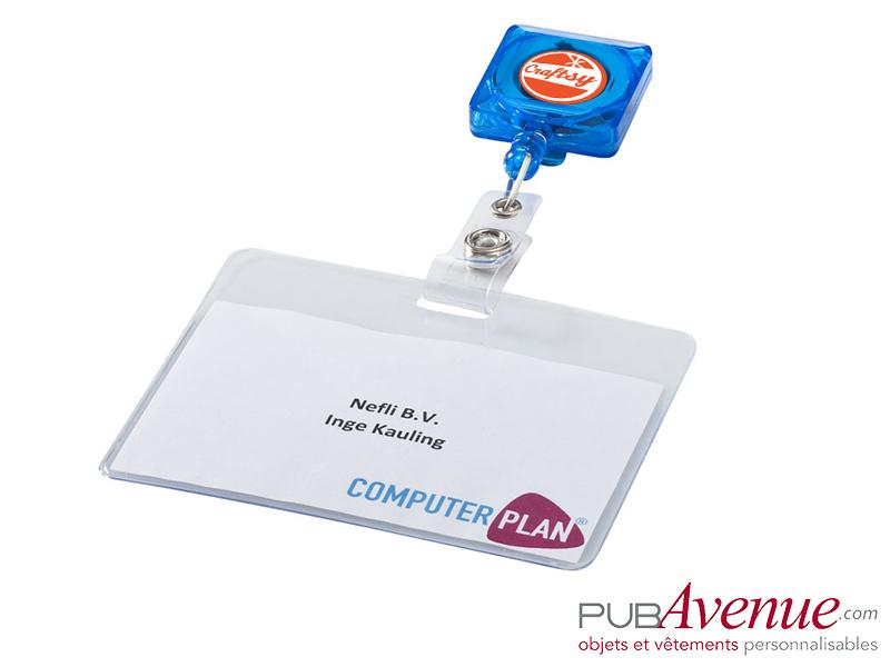 Porte badge clip extensible publicitaire
