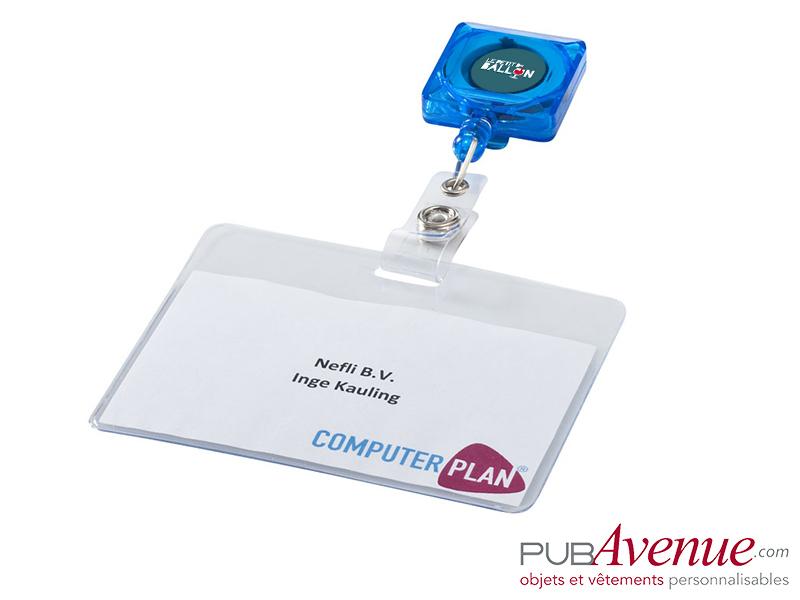 Porte badge clip personnalisable extensible