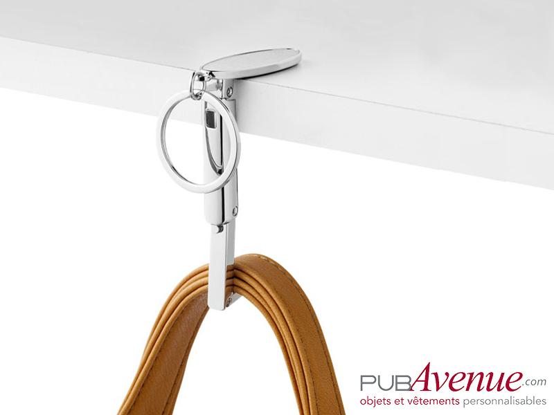 Porte-clés personnalisable accroche sac