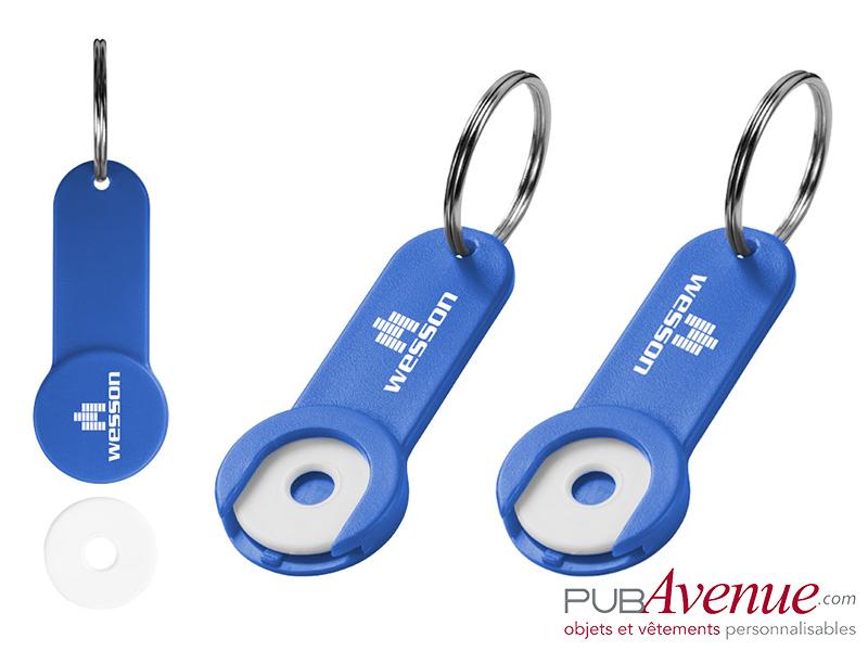Porte-clés jeton personnalisable