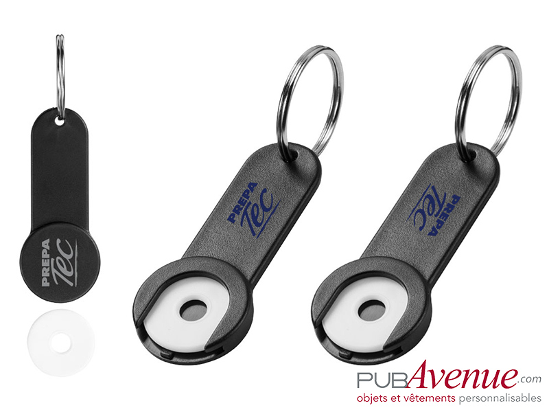 Porte-clés personnalisé jeton