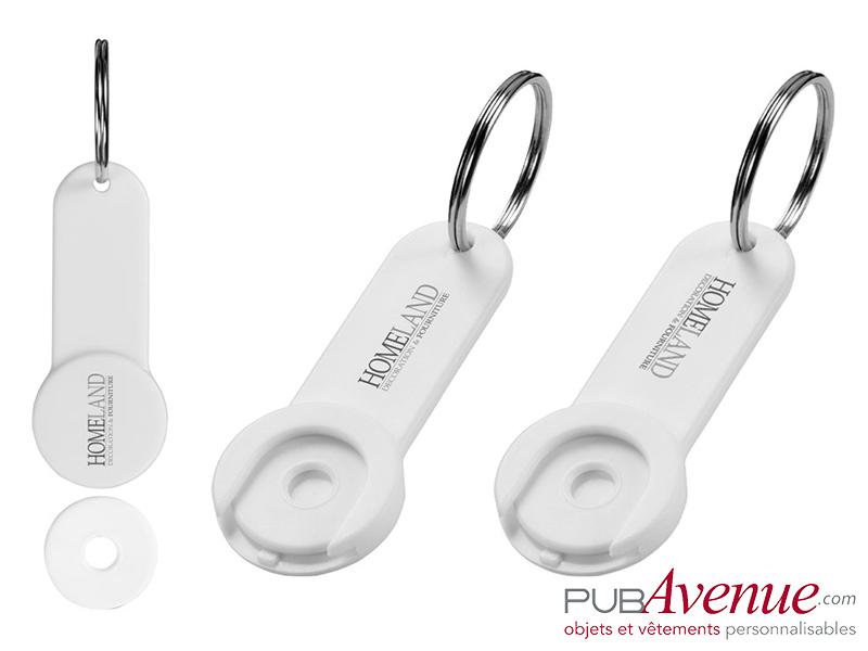 Porte-clés personnalisable jeton