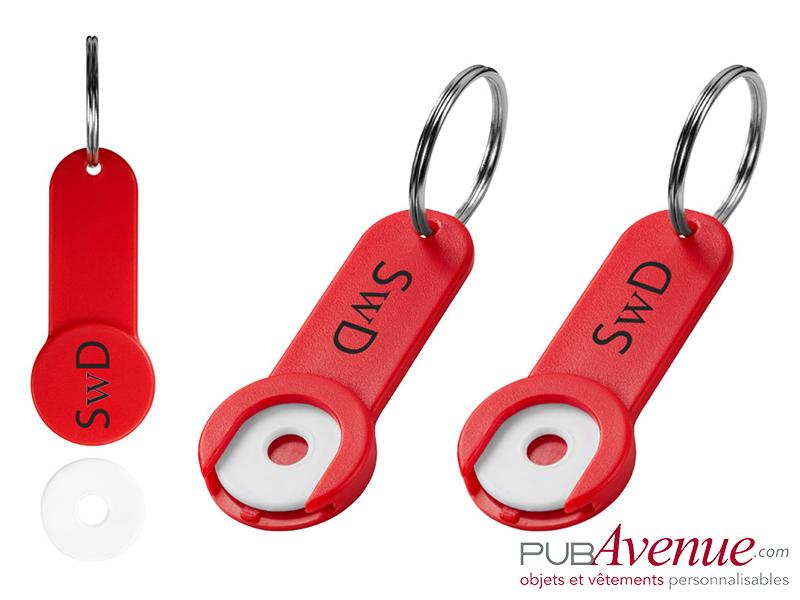 Porte-clés jeton personnalisé