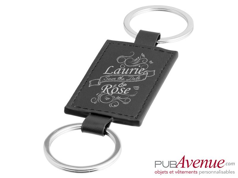 Porte-clés mariage personnalisé