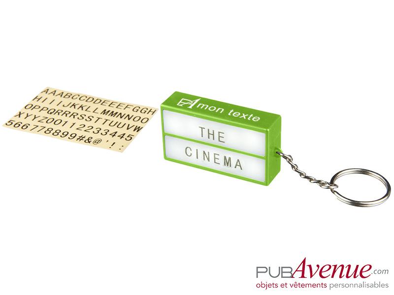 Porte-clés lampe cinéma personnalisable