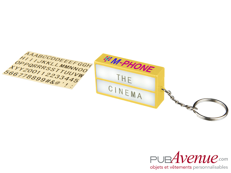 Porte-clés personnalisable lampe cinéma
