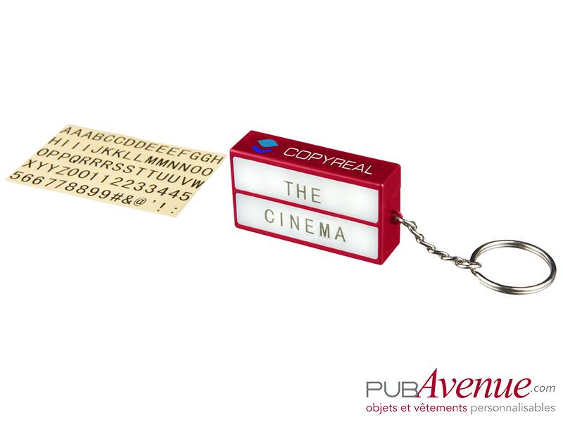 Porte-clés publicitaire lampe cinéma