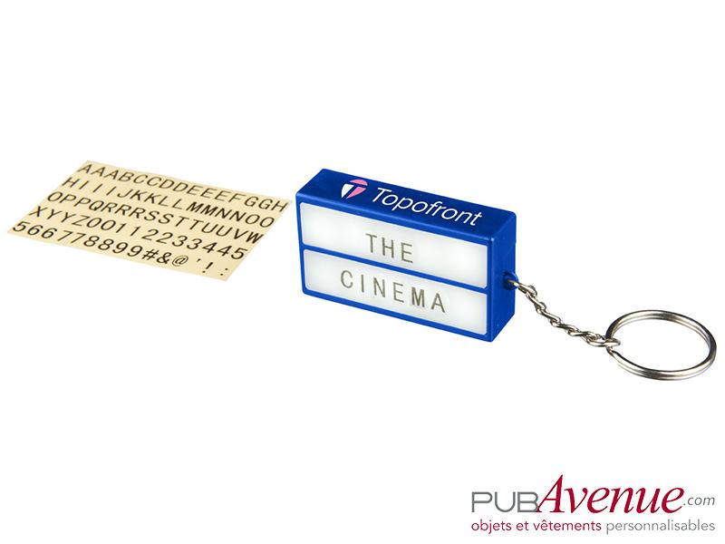 Porte-clés lampe cinéma personnalisé