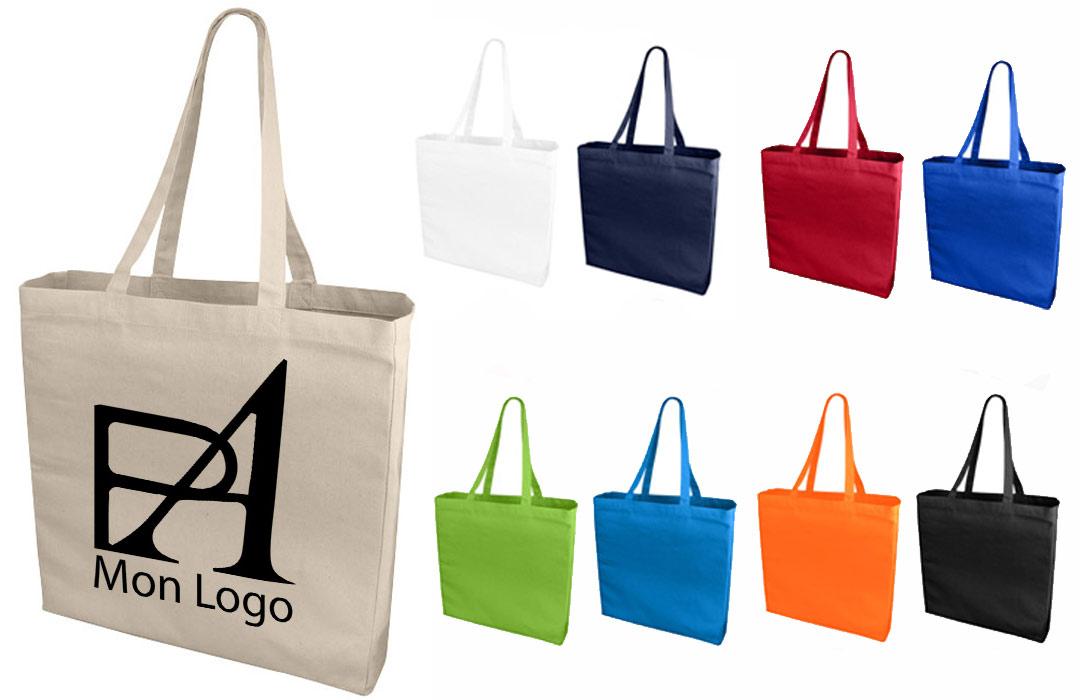 47f646fa7c Tote bag publicitaire personnalisée en toile 41x38 avec soufflé ...