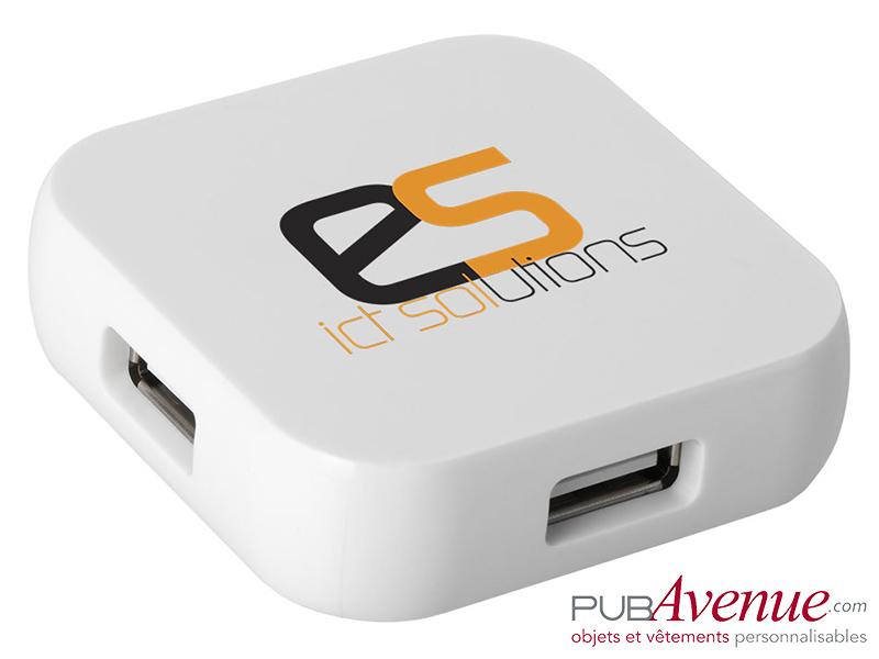 Hub carré personnalisable 4 ports USB