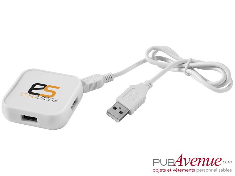Hub carré personnalisé 4 ports USB