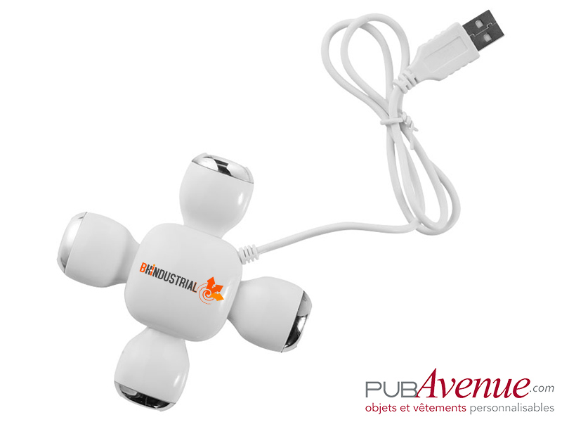 Hub flexible 4 ports USB personnalisable
