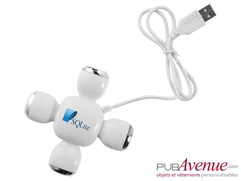 Hub flexible publicitaire 4 ports USB