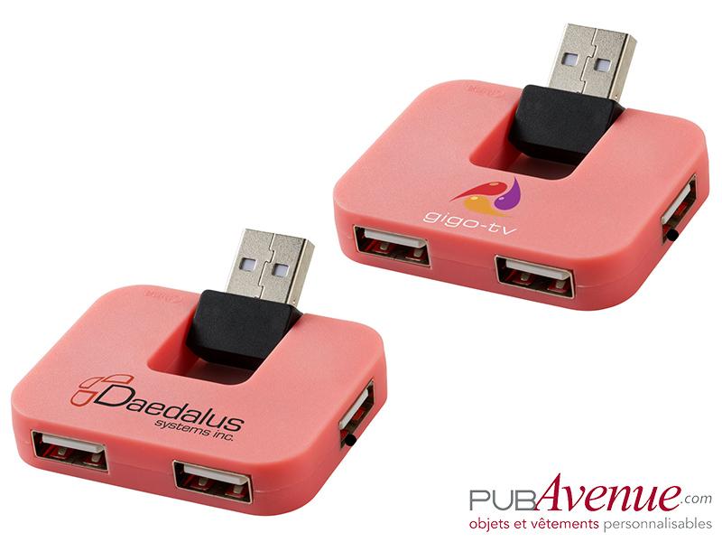 Hub USB personnalisé 4 ports