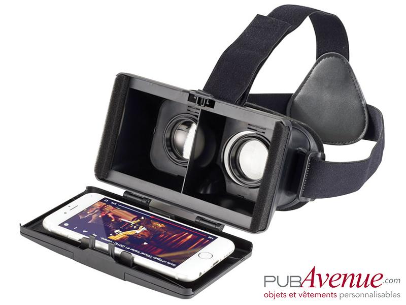Casque lunettes réalité virtuelle publicitaire