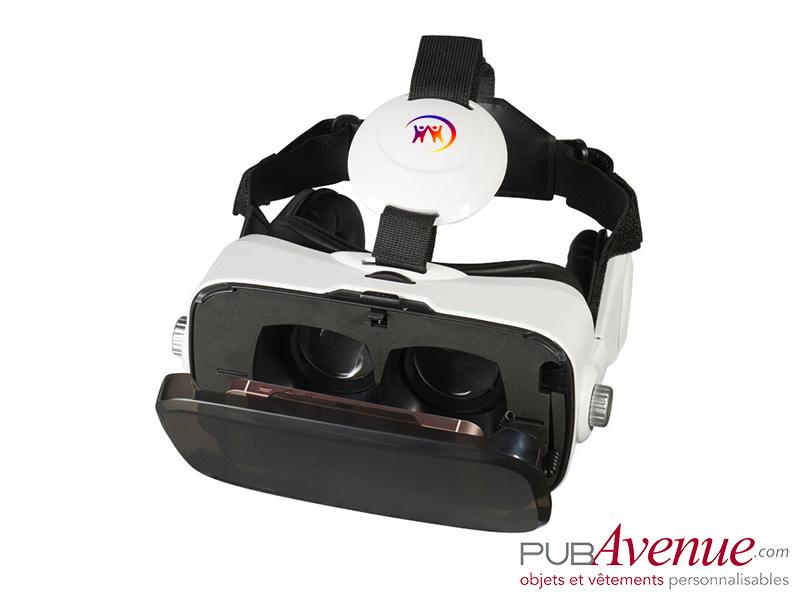 Casque intégré de réalité virtuelle publicitaire