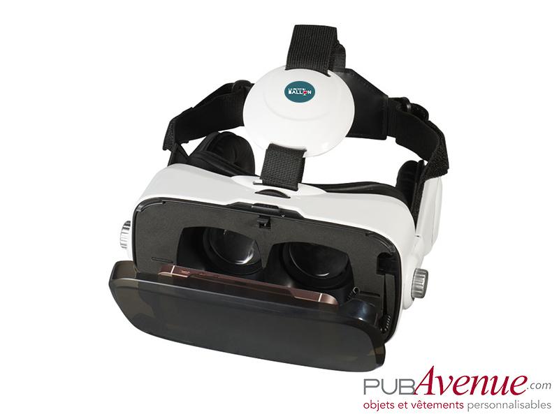 Casque intégré publicitaire de réalité virtuelle