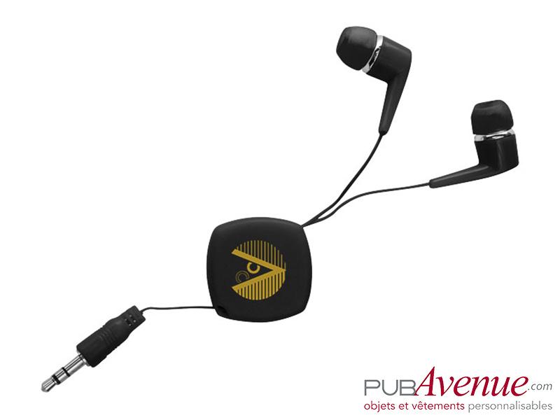 Écouteurs rétractables audio personnalisés