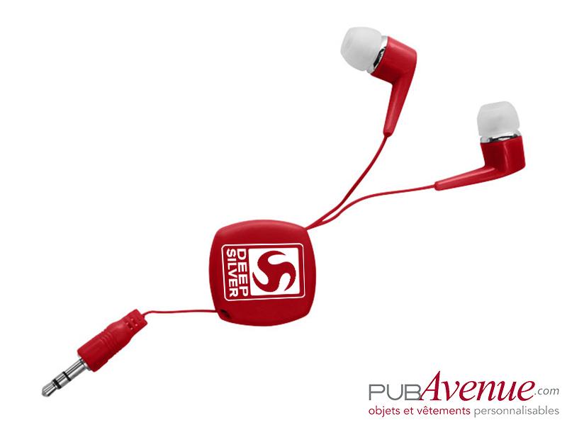 Écouteurs rétractables audio personnalisables