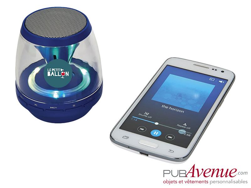 Enceinte LED Bluetooth personnalisable