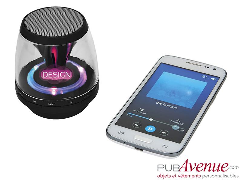 Enceinte LED Bluetooth personnalisée