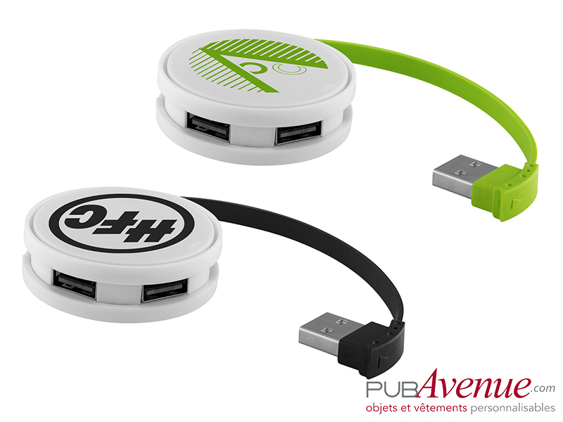 Hub rond personnalisé 4 ports USB