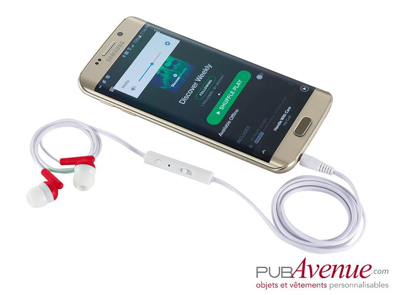 Oreillettes audio personnalisées mousqueton