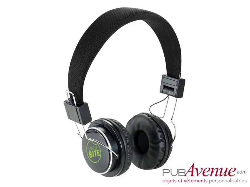Casque audio bluetooth personnalisé