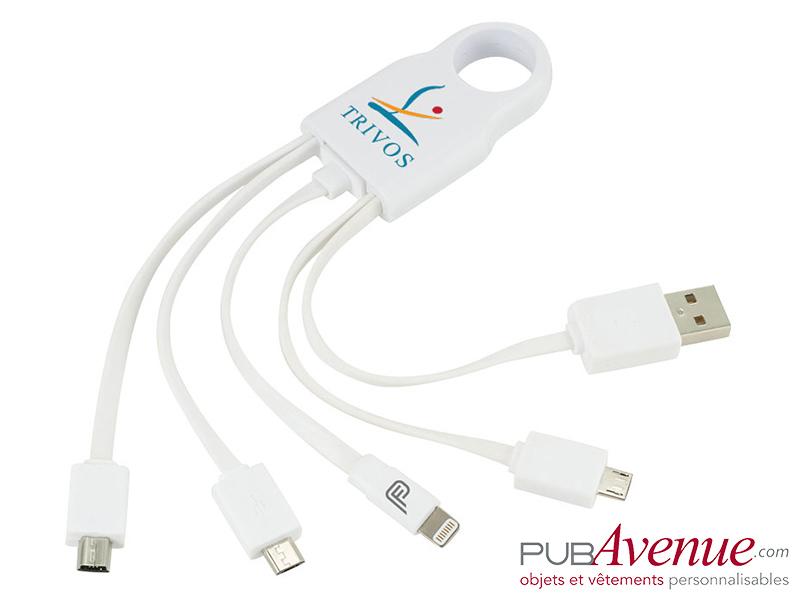 Câble chargement personnalisable 4 en 1