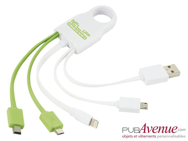 Câble chargement personnalisé 4 en 1