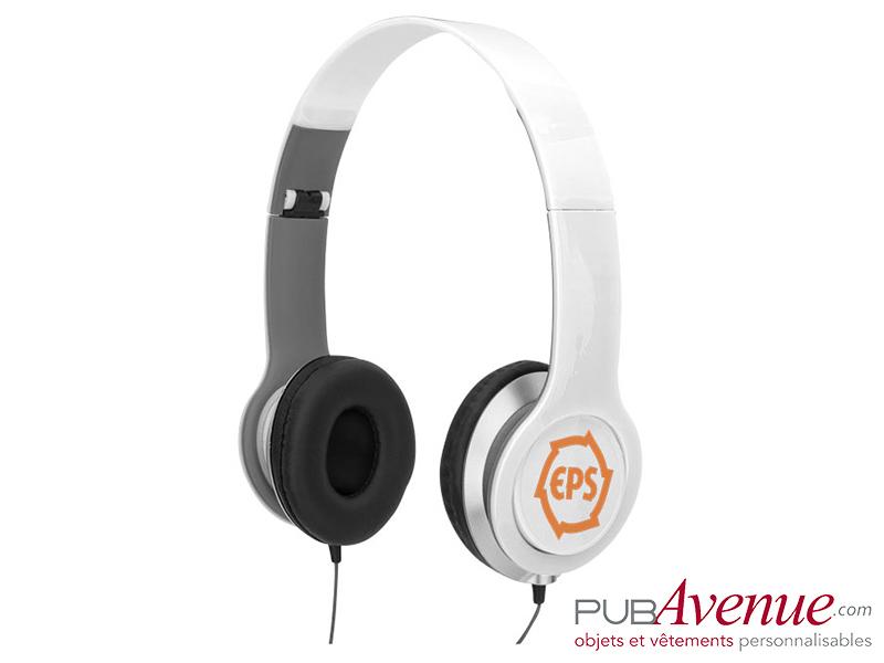 Casque audio pliable personnalisable