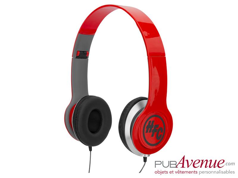 Casque audio personnalisable pliable