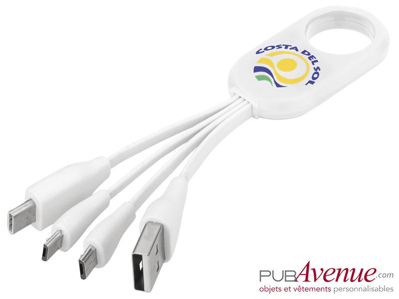 Câble personnalisable USB multi ports